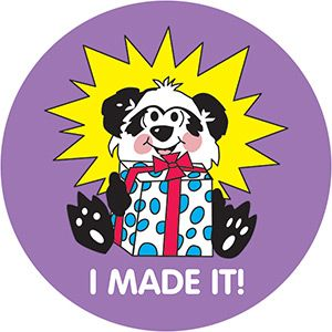 "Kindergarten ""I Made It"" Stickers"